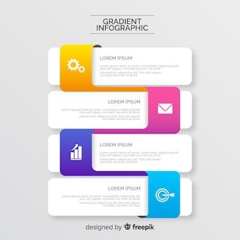 Estilo de caixa de diálogo infográfico gradiente