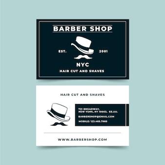Estilo de cartão elegante para barbearia