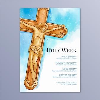 Estilo de cartaz da semana santa