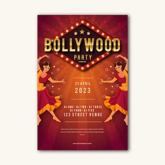 Estilo de cartaz de festa de bollywood