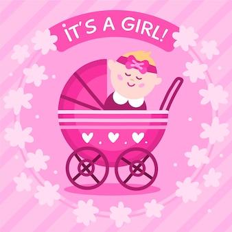 Estilo de chá de bebê para menina