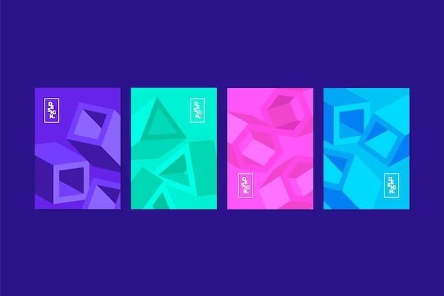 Estilo de coleção de capa geométrica abstrata