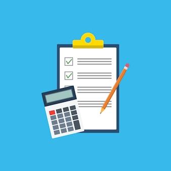 Estilo de contabilidade. vector eps10