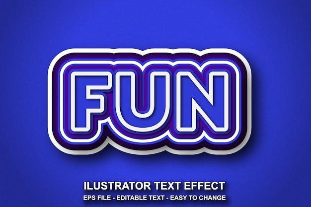 Estilo de cor azul de efeito de texto editável