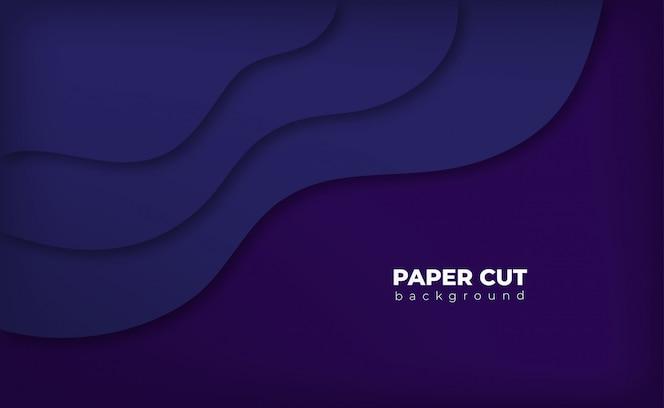 Estilo de corte de papel de fundo roxo