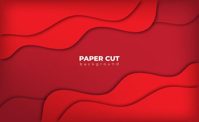 Estilo de corte de papel de fundo vermelho com espaço de texto