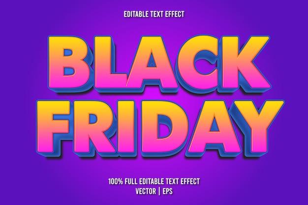 Estilo de desenho animado com efeito de texto editável black friday