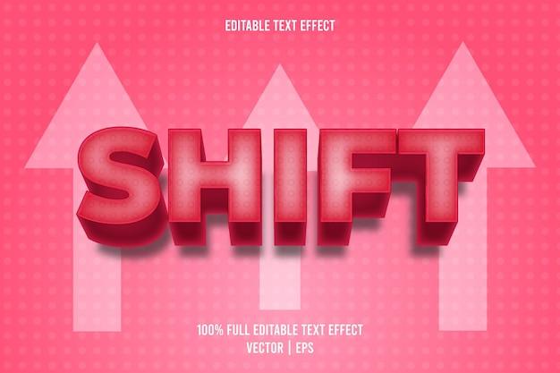 Estilo de desenho animado com efeito de texto editável shift