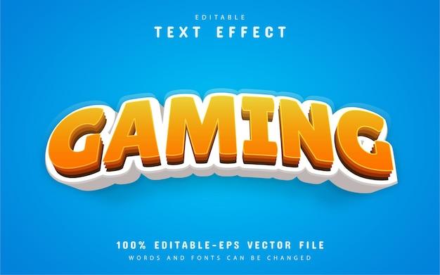 Estilo de desenho animado com efeito de texto para jogos
