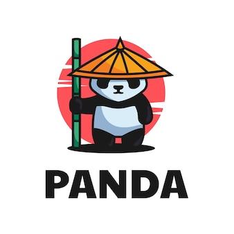 Estilo de desenho animado da mascote da ilustração do logotipo.