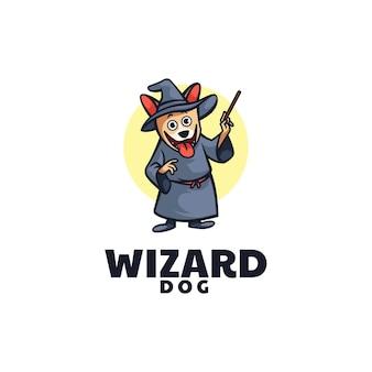 Estilo de desenho animado da mascote do logo wizard