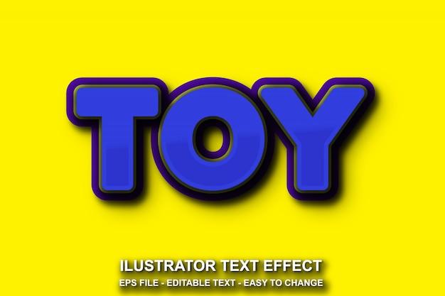 Estilo de desenho animado de brinquedo de efeito texto editável