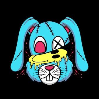 Estilo de desenho animado rabbit streetwear