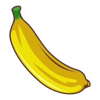 Estilo de desenho de banana isolado