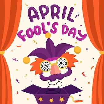 Estilo de desenho de dia de tolos de abril