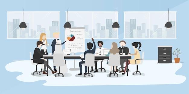 Estilo de desenho de ilustração da coleção de pessoas de negócios