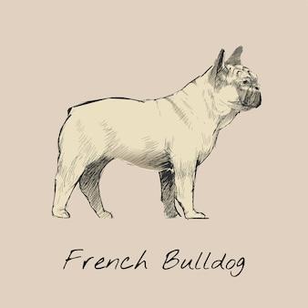 Estilo de desenho de ilustração de cachorro