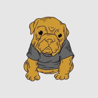 Estilo de desenho de mão de cachorro mau
