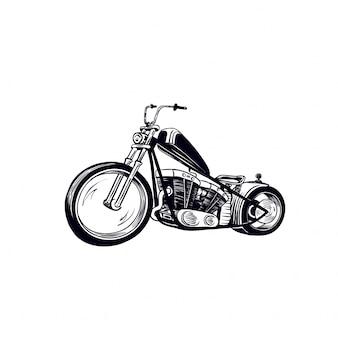 Estilo de desenho de mão de moto chopper