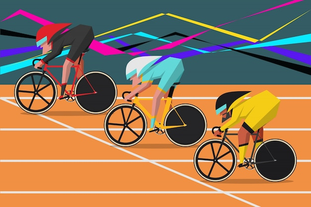 Estilo de desenho de personagem de desenho animado de bicicleta