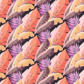 Estilo de design de fundo de folhas coloridas