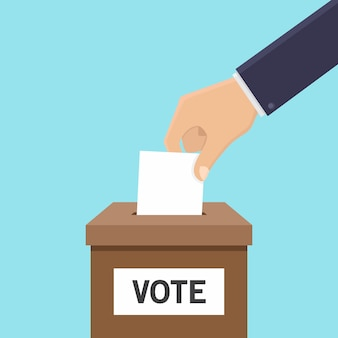 Estilo de design plano de conceito de voto