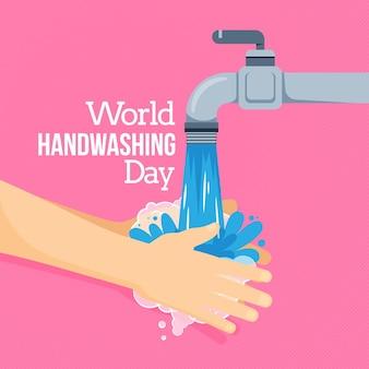 Estilo de dia global de lavagem das mãos