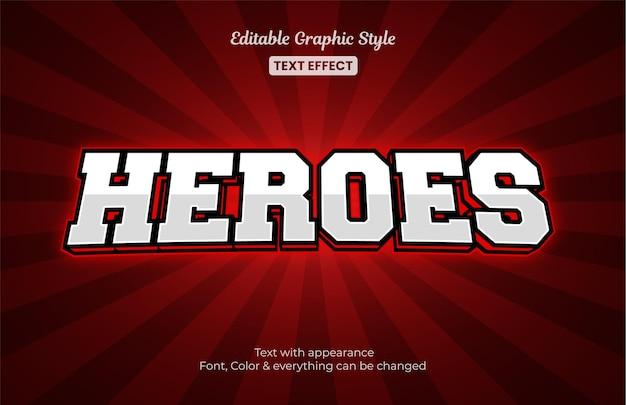 Estilo de e-sport vermelho, efeito de estilo de texto editável