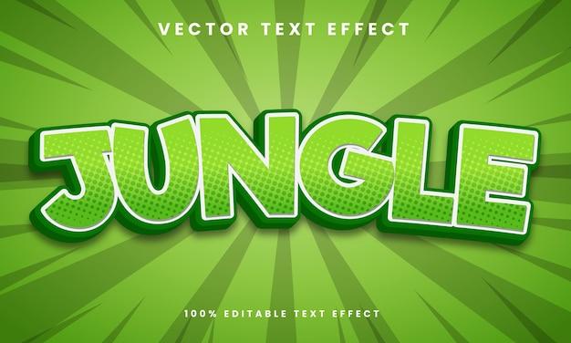 Estilo de efeito de texto 3d editável na selva