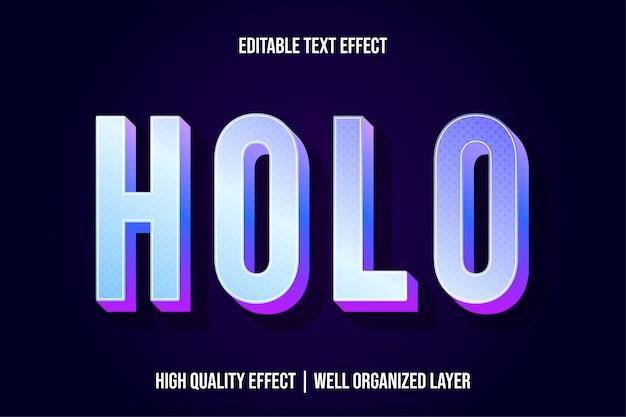 Estilo de efeito de texto 3d holo