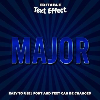Estilo de efeito de texto azul editável principal