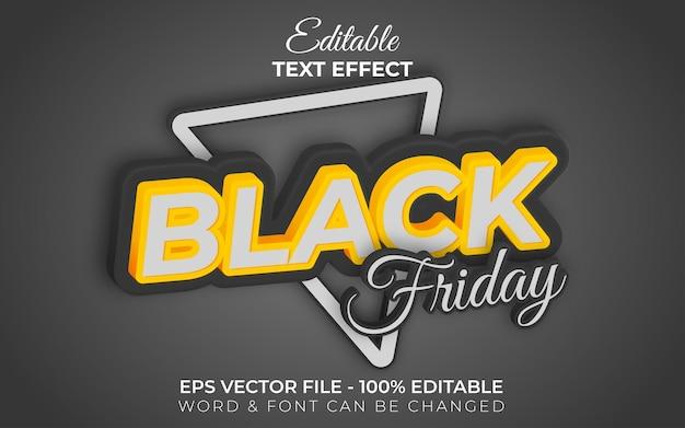 Estilo de efeito de texto black friday tema de venda de efeito de texto editável