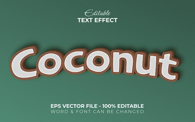 Estilo de efeito de texto coco efeito de texto editável