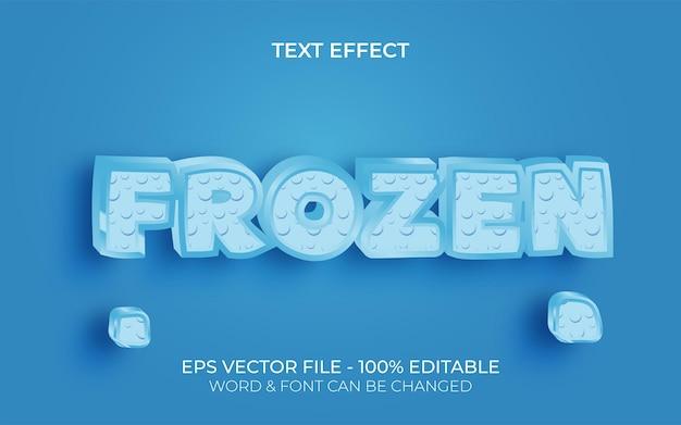 Estilo de efeito de texto congelado efeito de texto editável