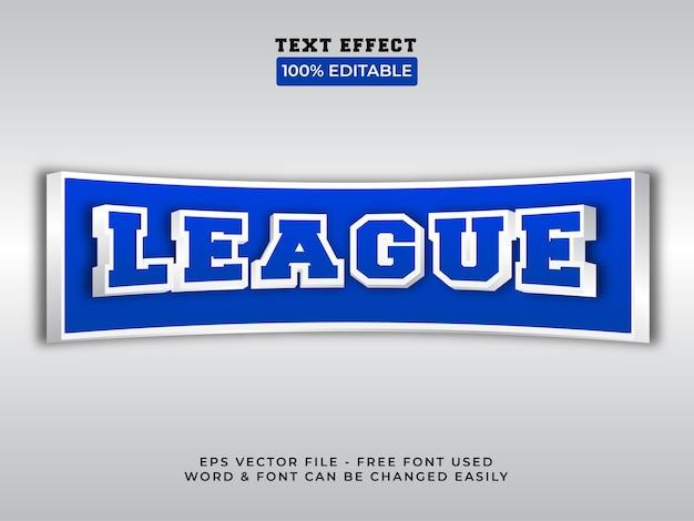 Estilo de efeito de texto da liga tema de estilo de jogo de efeito de texto editável