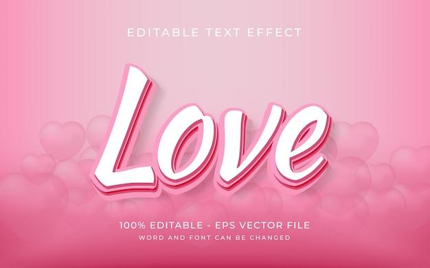 Estilo de efeito de texto de amor efeito de texto editável