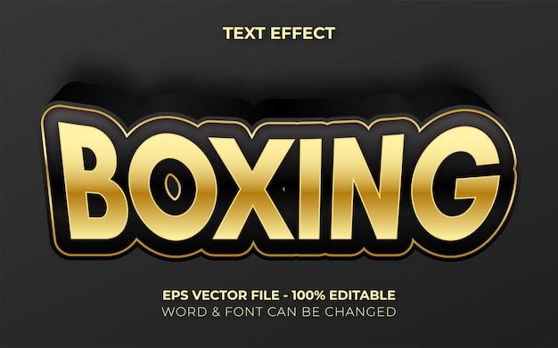 Estilo de efeito de texto de boxe efeito de texto editável