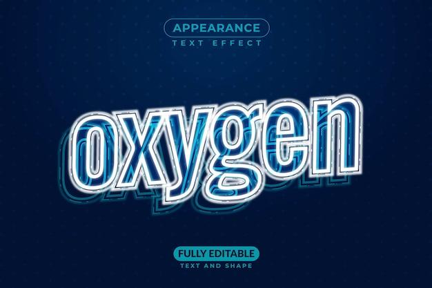 Estilo de efeito de texto de oxigênio