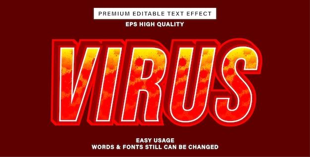 Estilo de efeito de texto de vírus
