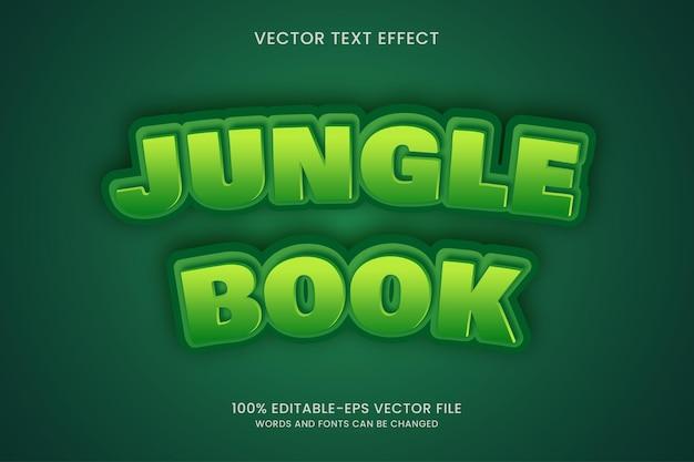 Estilo de efeito de texto do livro da selva