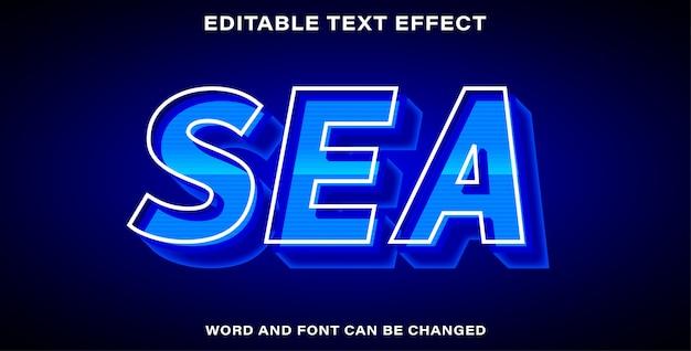 Estilo de efeito de texto do mar