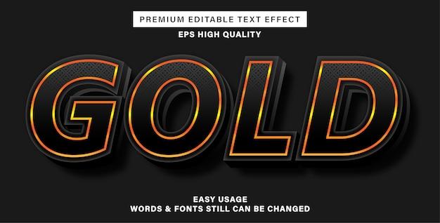 Estilo de efeito de texto dourado escuro