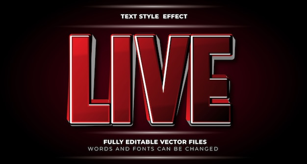 Estilo de efeito de texto editável ao vivo