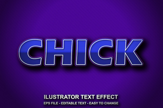 Estilo de efeito de texto editável azul