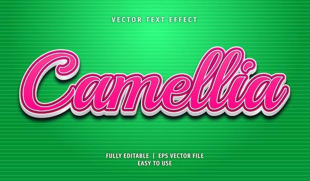 Estilo de efeito de texto editável de camélia