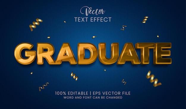Estilo de efeito de texto editável de graduação