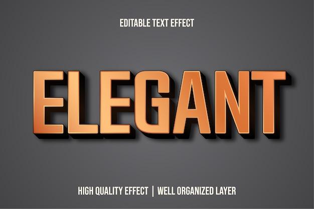 Estilo de efeito de texto editável elegante