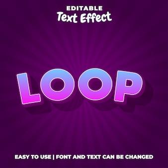 Estilo de efeito de texto editável em loop
