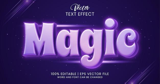 Estilo de efeito de texto editável mágico