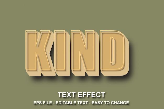 Estilo de efeito de texto editável para jovens